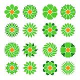 Grupo de flores do vetor Fotografia de Stock
