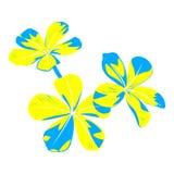 Grupo de flores em cores ácidas ilustração do vetor