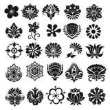 Grupo de flores gráficas Imagem de Stock Royalty Free