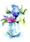 Grupo de flores lilás Imagens de Stock