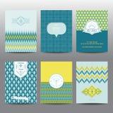 Grupo de folhetos e de cartões geométricos Imagem de Stock