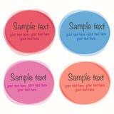 Grupo de formas coloridas redondas do vetor Fotografia de Stock