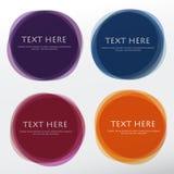 Grupo de formas coloridas redondas do vetor Bandeiras abstratas do vetor Foto de Stock Royalty Free