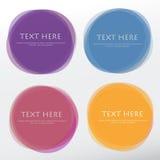 Grupo de formas coloridas redondas do vetor Bandeiras abstratas do vetor Imagens de Stock Royalty Free