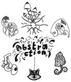 Grupo de formas da abstração Ilustração Royalty Free