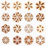 Grupo de formas geométricas Foto de Stock