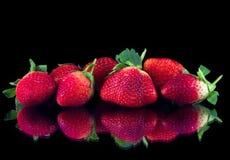 Grupo de fresas Foto de archivo libre de regalías