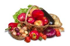 Grupo de frutas, de verduras y de verdor foto de archivo libre de regalías