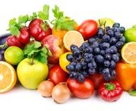 Grupo de frutas e legumes diferentes Foto de Stock Royalty Free