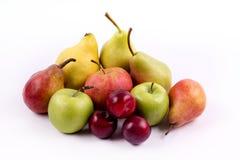 Grupo de frutas meridionales en un fondo blanco Imagenes de archivo