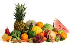 Grupo de frutas y verdura asorted imagenes de archivo