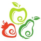 Grupo de fruto Imagens de Stock