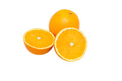 Grupo de fruto das laranjas Imagens de Stock