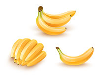 Grupo de frutos da banana Fotografia de Stock Royalty Free