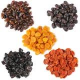 Grupo de frutos secados imagem de stock