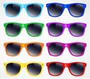 Grupo de fundo da ilustração do vetor dos óculos de sol Foto de Stock