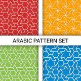 Grupo de fundos árabes Baseado em ornamento étnicos islâmicos Fotos de Stock Royalty Free