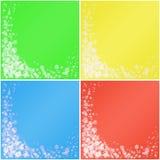 Grupo de fundos coloridos. fotografia de stock