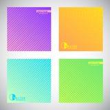 Grupo de fundos coloridos do inclinação com testes padrões geométricos Fotos de Stock Royalty Free