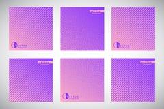 Grupo de fundos do inclinação com testes padrões geométricos Imagens de Stock