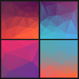 Grupo de fundos geométricos abstratos dos triângulos Fotografia de Stock Royalty Free