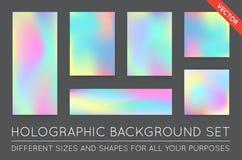 Grupo de fundos na moda holográficos Pode ser usado para a tampa, BO ilustração stock