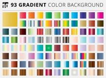 Grupo de 93 fundos quadrados da cor do inclinação ilustração stock