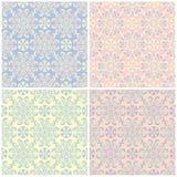 Grupo de fundos sem emenda coloridos desvanecidos com testes padrões florais Foto de Stock