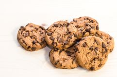 Grupo de galletas del chocolate fotos de archivo libres de regalías