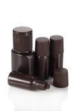 Grupo de garrafas cosméticas Imagens de Stock