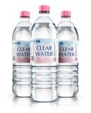 Grupo de garrafas de água plásticas da bebida ilustração stock