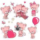 Grupo de gatinho bonito dos desenhos animados Imagens de Stock