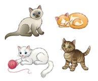 Grupo de gatinhos bonitos do vetor Foto de Stock Royalty Free