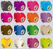 Grupo de gatos afortunados coloridos Imagem de Stock