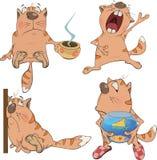 Grupo de gatos dos desenhos animados Imagem de Stock