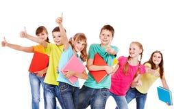 Grupo de gente adolescente. Fotos de archivo