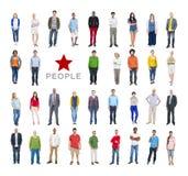 Grupo de gente colorida diversa multiétnica Fotos de archivo libres de regalías