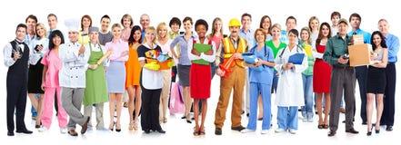 Grupo de gente de los trabajadores imagen de archivo