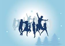 Grupo de gente en danza stock de ilustración