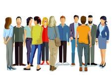 Grupo de gente joven stock de ilustración