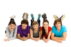 Grupo de gente joven Imagenes de archivo