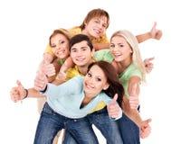 Grupo de gente joven en blanco. Imagen de archivo libre de regalías
