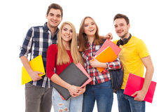 Grupo de gente joven feliz Imagenes de archivo