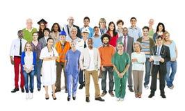 Grupo de gente mezclada multiétnica de los empleos imagen de archivo