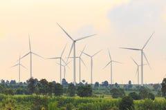Grupo de gerador de turbina eólica Imagem de Stock Royalty Free