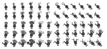 Grupo de gestos do multitouch Imagens de Stock