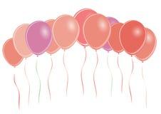 Grupo de globos coloreados - Fotos de archivo libres de regalías