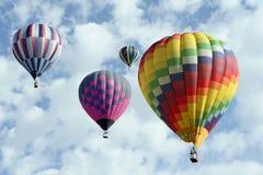 Grupo de globos del aire caliente Imagen de archivo libre de regalías