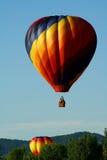 Grupo de globos del aire caliente foto de archivo