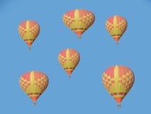 Grupo de globos del aire caliente Fotografía de archivo